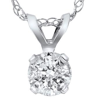 2ct Solitaire Diamond Pendant 14 KT White Gold
