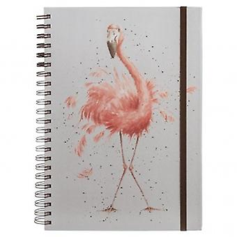 Wrendale Designs A4 Flamingo Notebook