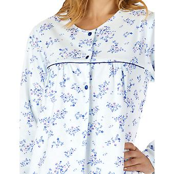 Slenderella ND4210 Women's Woven Floral Cotton Nightdress