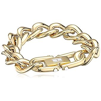 Tommy Hilfiger smycken 2700917 Classic Signature-emalj INOX stål kvinnors armband-19 cm