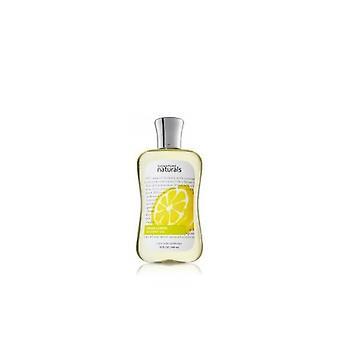Bath & Body Works Semnătura Naturals Proaspete Lemon Gel de duș 10 fl oz / 295 ml (2 Bucăți)
