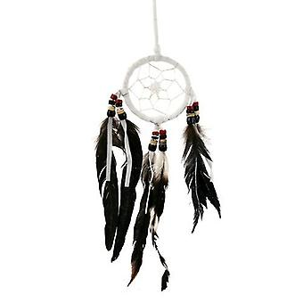 Dream Catcher with Coconut Beads and Black Feathers Small