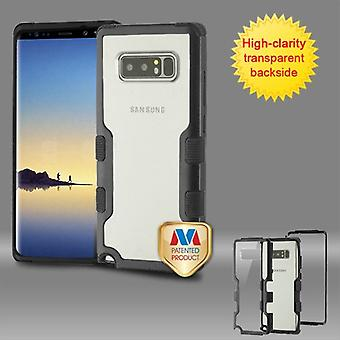 MYBAT Natural Black Frame-Transparent PC Back/Black TUFF Vivid Hybrid Protector Cover pour Galaxy Note 8