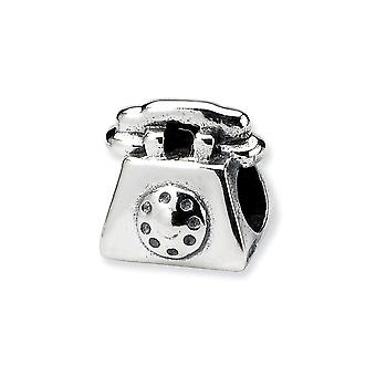 925 Plata esterlina pulido antiguo acabado Reflejos Niños Teléfono Encanto