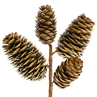 19cm 4 Pine Cone Pick for Christmas Floristry Crafts