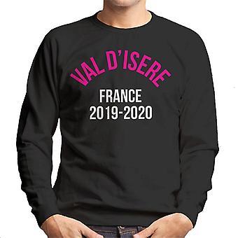 Val D'Isere France 2019 2020 Skiing Men's Sweatshirt