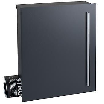 MOCAVI Box 110 Quality letterbox with newspaper compartment anthracite-grey (RAL 7016)