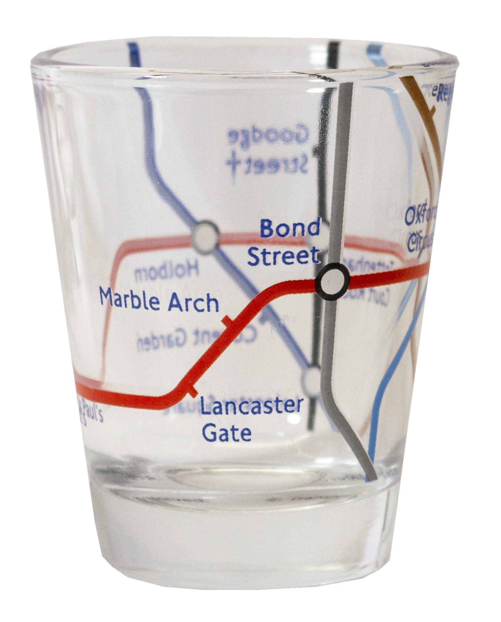 Licensed tfl underground tube map london set of 3 shot glasses