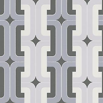 Hotspot Retro Geometric Wallpaper Rasch