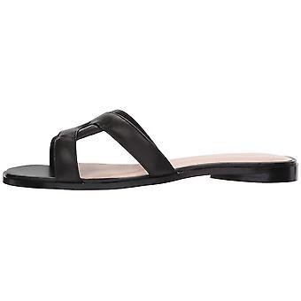 Avec Les Filles Women & s Blaye Flat Sandal, Black Nappa, 5.5 M US