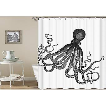 Octopus Drawing Shower Curtain