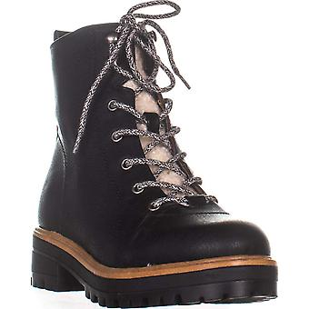 Indigo Rd. Womens Izma2 Leather Closed Toe Ankle Combat Boots