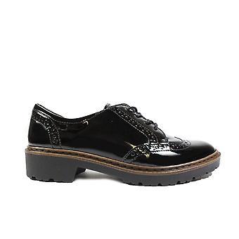 Ara Portland 60006-01 Black Patent Leather Womens Lace Up Brogue Shoes