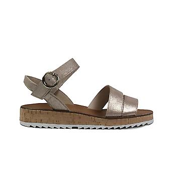 Paul Green 7496-02 Blush Metallic Suede Leather Womens Strapy Sandals