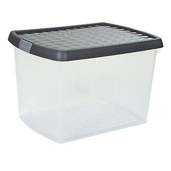 Wham Storage 21.5 Litre Wham Clip Boîte de stockage en plastique avec couvercle 8.02