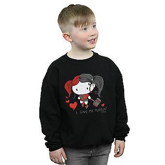 DC Comics jongens Justice League ik hou van mijn puddin ' Sweatshirt