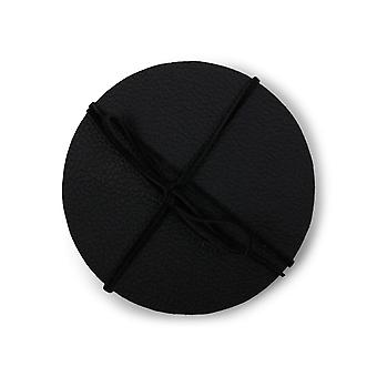 Coasters Black leather 4-pack