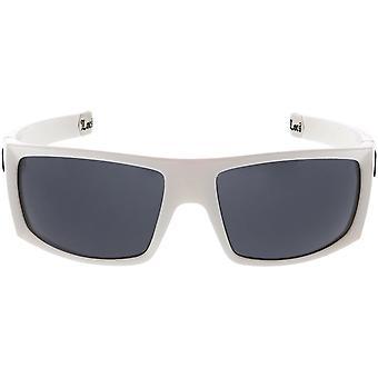 Duże OG Old School Locs Hip Hop Fashion White Frame Dark Lens Square Okulary przeciwsłoneczne 65mm