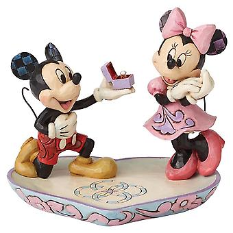 Disney Traditions A Magical Moment Mickey And Minnie Figurine