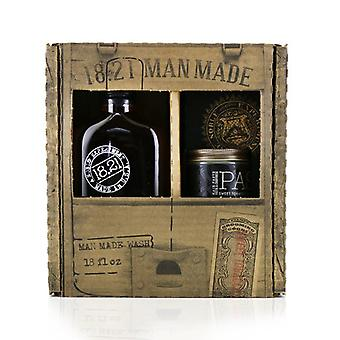 18.21 Man Made Man Made Wash & Paste Set - # Sweet Tobacco: 1x Shampoo Conditioner & Body Wash 530ml + 1x Hair Paste 56.7g - 2pcs
