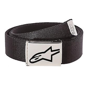 Alpinestars Ageless Webbing Belt in Black/Chrome