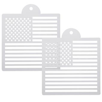TRIXES US Flag Drawing Stencil Templates for Scrapbooking Card Making
