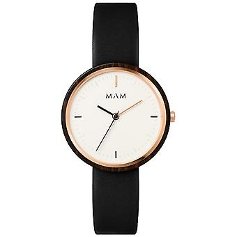 Mam Original Japanese Quartz Analog Woman Watch with PLANO Cowhide Bracelet 651