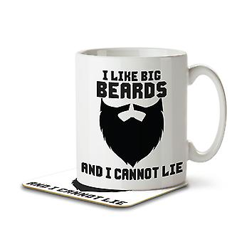I Like Big Beards and I Cannot Lie - Mug and Coaster