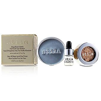 Magnificent Metals Foil Finish Eye Shadow With Mini Stay All Day Liquid Eye Primer - Metallic Kitten 2pcs
