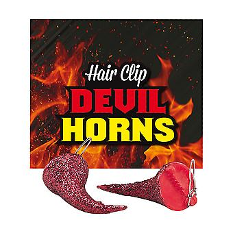 Bristol Novelty Devil Horn Hair Clips