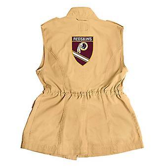NFL Washington Redskins Women's Military Vest, Large, Khaki, Size Large
