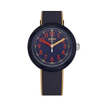 Flik Flak Watches Fpnp043 Color Blast Blue Textile Watch