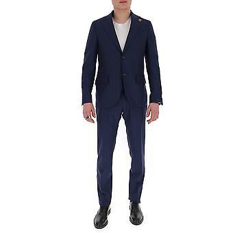 Lardini Ei416aeeirp544955 Männer's blau Erbaumwollanzug