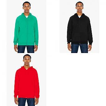 American Apparel Unisex California Zip Sweatshirt mit Kapuze