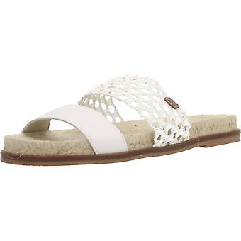 Menorquinas Popa Sandals Port Color White