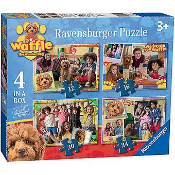 Ravensburger Waffle The Wonder Dog 4 in a Box (12, 16, 20, 24pc) Jigsaw Puzzles