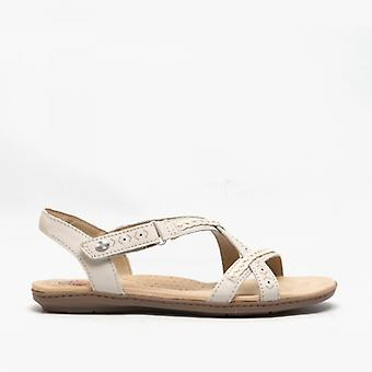 Earth Spirit Easton Ladies Leather Sandals White