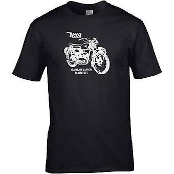 BSA Bantam Super Model 7 Classic - Motorcykel Motorcykel Biker - DTG Tryckt T-shirt