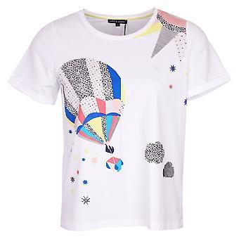 Leo & Ugo White Short Sleeve Balloon Print T-shirt