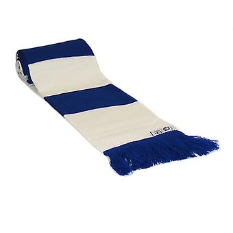 fan originals Retro Football Bar Scarf in Everton Colours Blue White