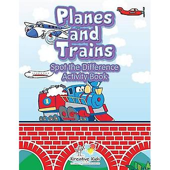 Planes and Trains Spot the Difference Activity Book by Kreative Kids