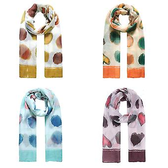 Jewelcity Womens/Ladies Abstract Spot And Hearts Scarf