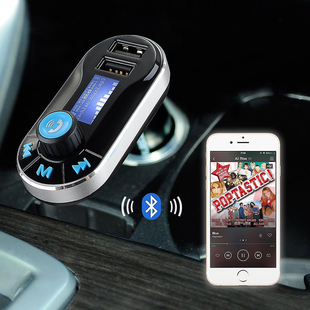 ONX3 Lenovo A3900 5 w 1 bez drutu Bluetooth Car Kit Modulator z Music Player FM nadajnik, ładowarka samochodowa Dual USB, wsparcie SD/TF kart, sterowanie muzyką, rozmów