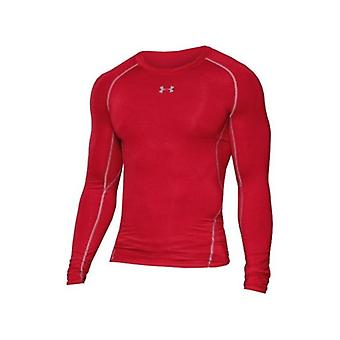 Heren's Long Sleeved Compression T-shirt Under Armour 1257471-600 Red/XXL