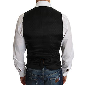 دولتشي وغابانا الصوف الأسود ثوب صدرية - TSH2177712