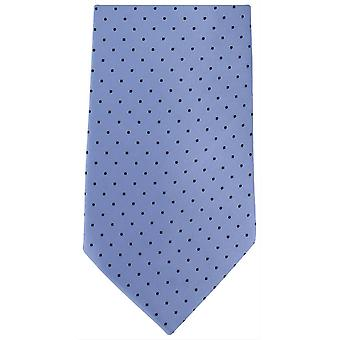 Michelsons of London Mini Spots Extra Long Polyester Tie - Light Blue