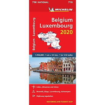 Belgium  Luxembourg 2020  Michelin National Map 716