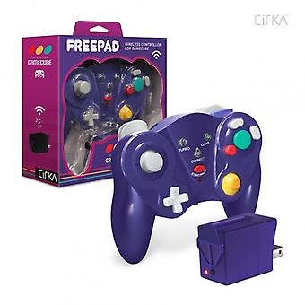 """FreePad"" Wireless Controller for Nintendo GameCube (Purple) - CirKa"