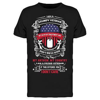 Jag är en grinig Veteran Citat Tee Men & apos; s -Bild av Shutterstock Men & apos; s T-shirt