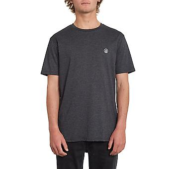 T-shirt Volcom Heather - Circle Blanks noir